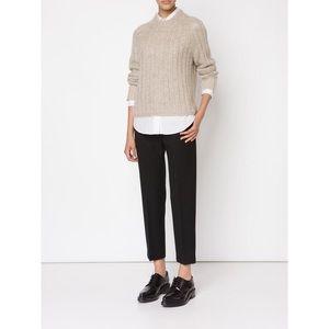 Rag & Bone Makenna Crop Sweater in Oxford Tan